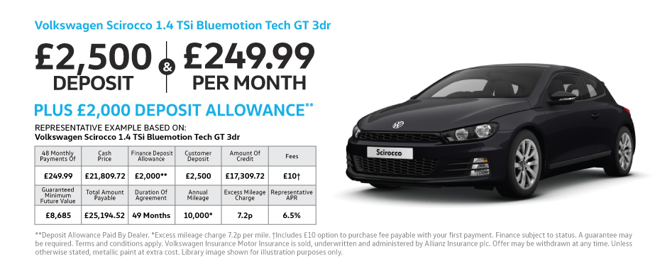 Volkswagen Scirocco 1.4 TSi Bluemotion Tech GT 3dr