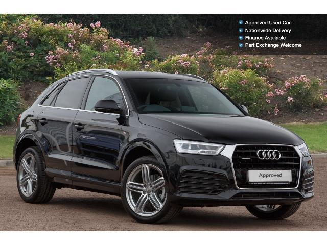 used audi q3 2 0 tdi quattro s line plus 5dr s tronic diesel estate for sale south hereford. Black Bedroom Furniture Sets. Home Design Ideas