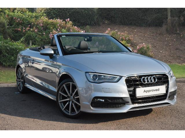 used audi a3 2 0 tdi s line 2dr diesel cabriolet for sale. Black Bedroom Furniture Sets. Home Design Ideas