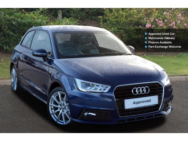 used audi a1 1 6 tdi s line 3dr diesel hatchback for sale south hereford garages. Black Bedroom Furniture Sets. Home Design Ideas